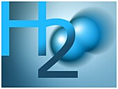 Hydrogen molecule, illustration