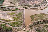 San Acacia Diversion Dam, New Mexico, USA
