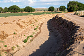 Dry irrigation canal in New Mexico, USA