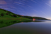 Lakeside star trails
