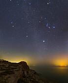 Winter constellations over Persian Gulf