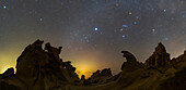 Winter constellations and rock formations