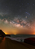 Milky Way rising over Persian Gulf