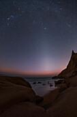 Zodiacal light over Persian Gulf coast, Iran