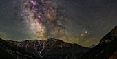 Central bulge of the Milky Way over Alborz Mountains, Iran