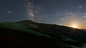 Moon, Planets and Milky Way