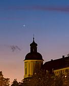 Mercury over church, Passau, Germany