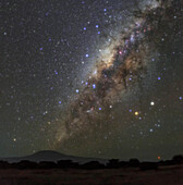 Central bulge of Milky Way over Mount Kilimanjaro
