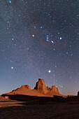 Night sky at Moonset, Lut desert, Iran