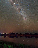 Southern night sky over Tsiribihina River, Madagascar