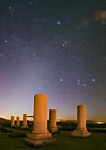 Night sky over Private Palace, Pasargadae, Iran