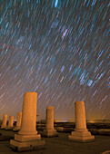 Star trails over Private Palace, Pasargadae, Iran
