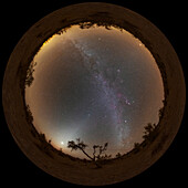Zodiacal light and Milky Way, 360-degree view