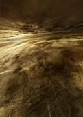 Surface of Venus, illustration