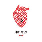 Heart disease, conceptual illustration