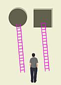 Decision making, conceptual illustration