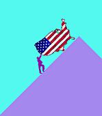Future of USA, conceptual illustration