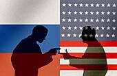Russia-US relations, conceptual illustration