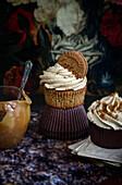 Biscoff caramel cupcakes