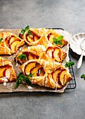 Peach puff pastry