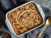 Baked Oatmeal with Bananas