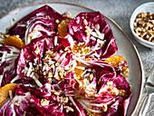 Radicchio salad with oranges and walnuts
