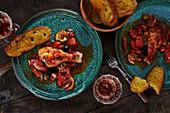 Baked Mediterranean chicken with rose wine