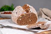 Gluten-free, low-carb pecan bread (no yeast, no sugar)