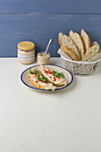 Cheese cream 'Hellas' made from feta, harissa and garlic