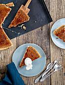 Hazelnut crème brûlée tart