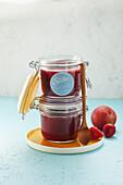 Strawberry-Plum Jam (sugar-free)