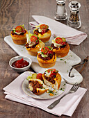 Minced meat muffins with raclette cheese
