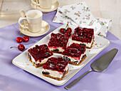 Cherry-and-poppyseed quark cake