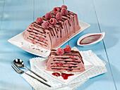 Raspberry parfait with dark chocolate