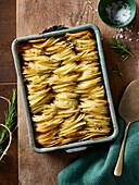 Potato gratin with rosemary