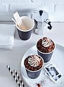 Coffe granita with whipped cream