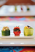 East meets West Petiscos – cold stuffed vegetables as an appetizer