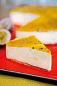 Passion fruit cream cheese tart