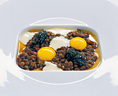 Älbler Leisa with caviar, brown butter and potato cream