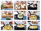 Preparing cauliflower curry