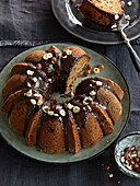 Banana fancy bread with chocolate topping