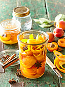 Apricot compote with star anis