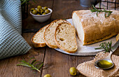 Ciabatta with olive oil and rosemary
