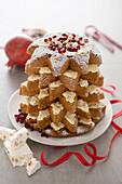 Pandoro (Christmas cake, Italy) with cream filling