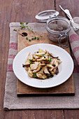 Artichoke salad with anchovies