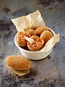 Suppli di riso (stuffed rice balls, Italy)