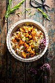 Risotto with chanterelles (vegan)