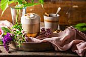 Cashew and chamomile latte