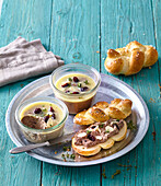Home made chicken liver pate with pastry