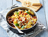 Pasta with minced meat ragout